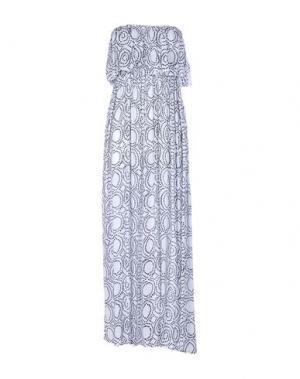 Платье длиной 3/4 COOLCHANGE. Цвет: белый