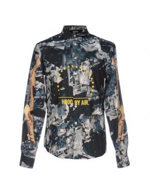 Pубашка HBA HOOD BY AIR. Цвет: стальной серый