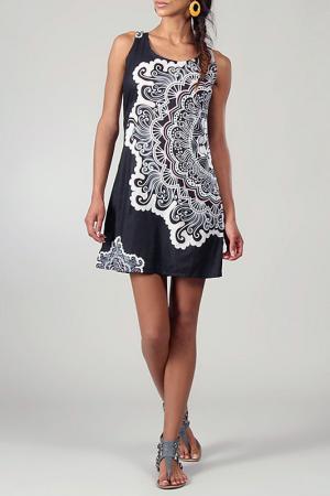 Платье Aller Simplement. Цвет: black and  white