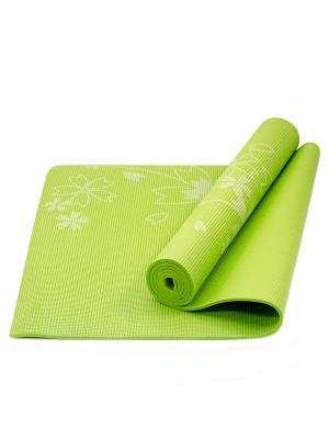 Коврик для йоги STAR FIT FM-102 PVC 173x61x0,4 см, с рисунком, зеленый Starfit. Цвет: зеленый