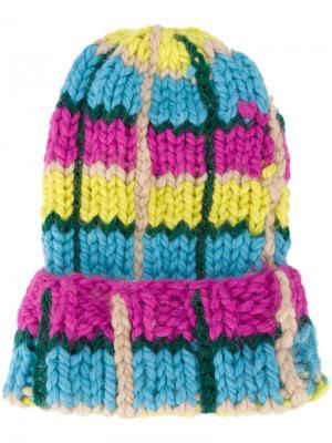 Oversized knitted hat Natasha Zinko. Цвет: многоцветный