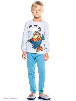Пижама PELICAN. Цвет: серый, серо-голубой