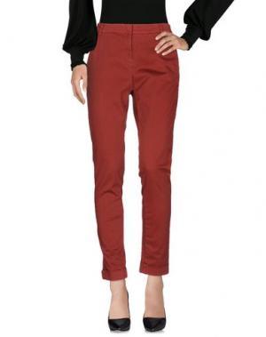 Повседневные брюки KARTIKA. Цвет: красно-коричневый
