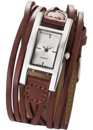 Женские наручные часы Эстель (коричневый) bonprix. Цвет: коричневый