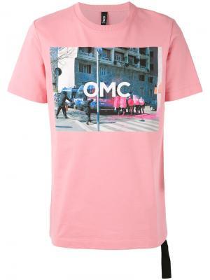 Футболка с фотопринтом Omc. Цвет: розовый и фиолетовый