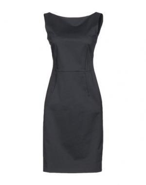 Платье до колена ANTONELLI. Цвет: темно-зеленый