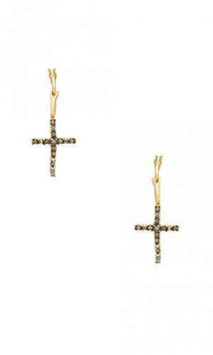 Серьги-кольца devoted Natalie B Jewelry. Цвет: металлический золотой