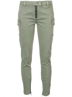 Узкие брюки карго Rta. Цвет: зелёный