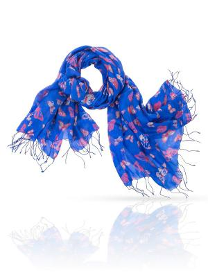 Палантин MICHEL KATANA`. Цвет: синий, коралловый, молочный