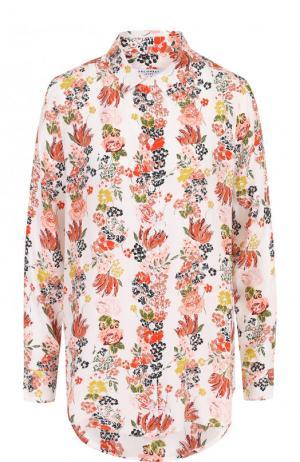 Шелковая блуза прямого кроя с принтом Equipment. Цвет: разноцветный