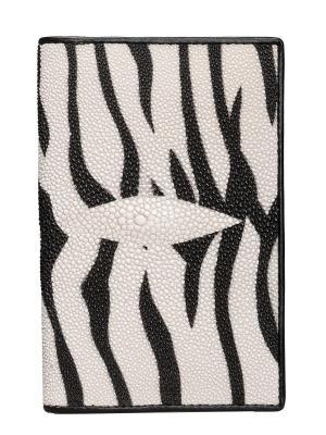 Обложка для паспорта из кожи морского ската MEYNINGER. Цвет: белый