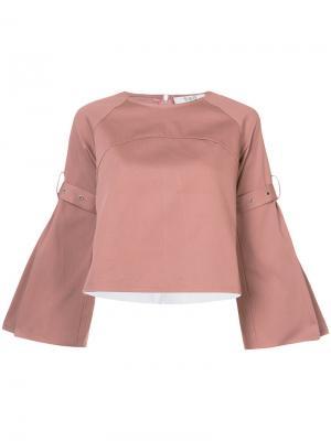 Блузка с плиссированной спинкой Sea. Цвет: телесный