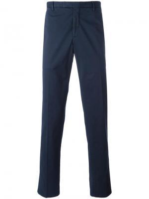 Классические брюки чинос Boglioli. Цвет: синий