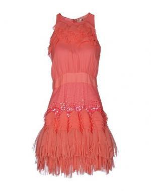 Короткое платье ELISABETTA FRANCHI GOLD. Цвет: коралловый