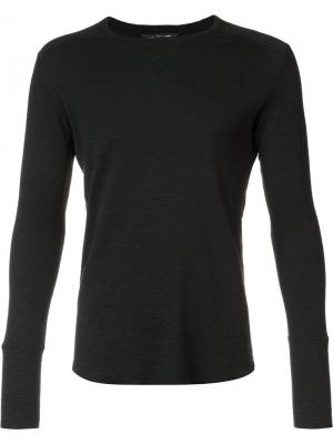 Longsleeved T-shirt Wings+Horns. Цвет: чёрный