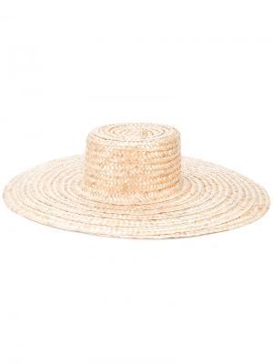 Straw hat Nanushka. Цвет: телесный