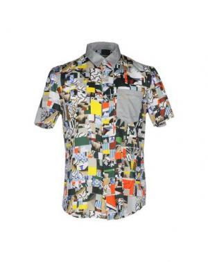 Pубашка BASSO & BROOKE. Цвет: серый