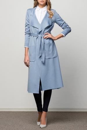 Пальто VAVIST. Цвет: синий
