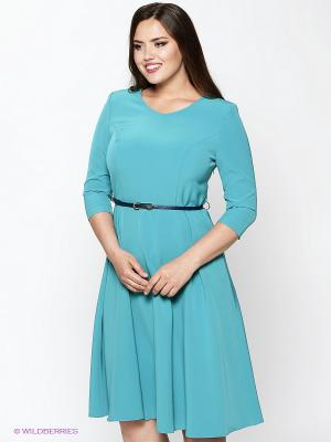 Платье Amelia Lux. Цвет: бирюзовый