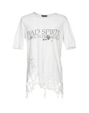 Футболка BAD SPIRIT. Цвет: белый