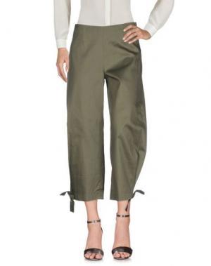 Повседневные брюки ROSE' A POIS. Цвет: зеленый-милитари
