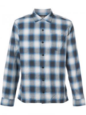 Клетчатая рубашка с длинными рукавами Rrl. Цвет: синий