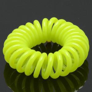Резинка-Пружинка для волос, арт. РПВ-133 Бусики-Колечки. Цвет: желтый