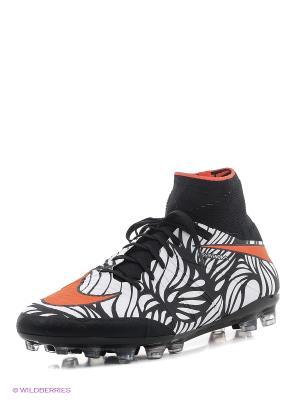Бутсы HYPERVENOM PHANTOM II NJR AG-R Nike. Цвет: черный