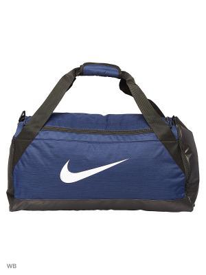 Сумки NK BRSLA M DUFF Nike. Цвет: черный, серо-голубой