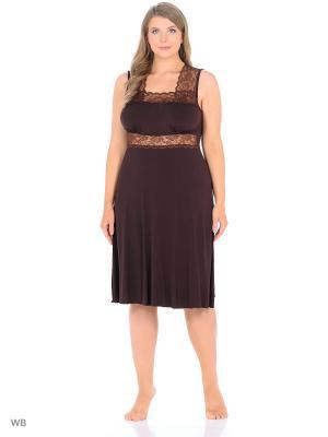Ночная сорочка Flip. Цвет: коричневый