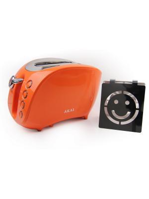 Тостер со смайликом AKAI. Цвет: оранжевый