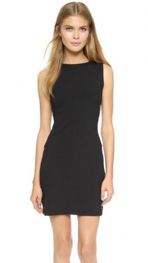 Платье с открытой спиной и разрезом Susana Monaco. Цвет: голубой