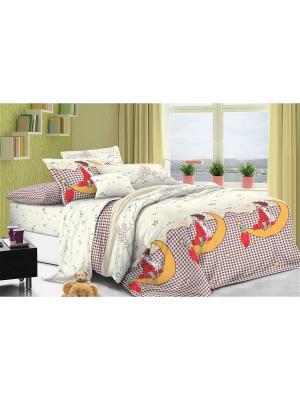 Комплект постельного белья 1,5сп, поплин BegAl. Цвет: молочный