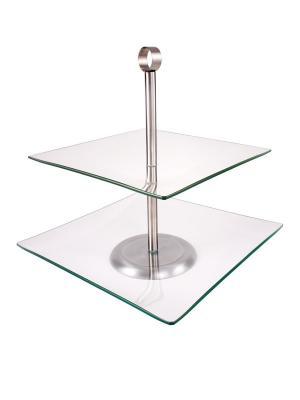 Двух уровневая подставка для торта AMBITION. Цвет: прозрачный