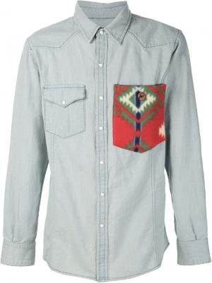 Рубашка в стиле вестерн Colorado River United Rivers. Цвет: синий