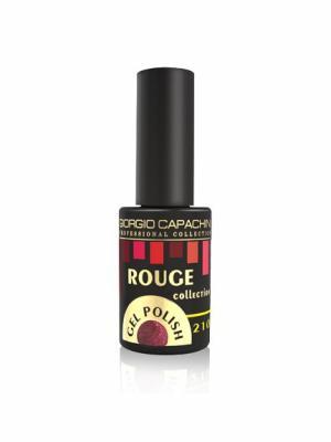 Гель-лак 3-х фазный №210 Rouge GC 7 мл, 20219011 GIORGIO CAPACHINI. Цвет: бордовый, коричневый