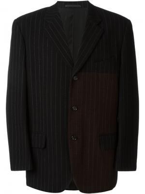 Пиджак в тонкую полоску Comme Des Garçons Vintage. Цвет: чёрный