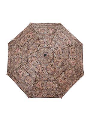 Зонт Slava Zaitsev. Цвет: темно-коричневый