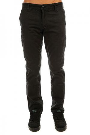 Штаны прямые  Everyday Chino Black Quiksilver. Цвет: черный