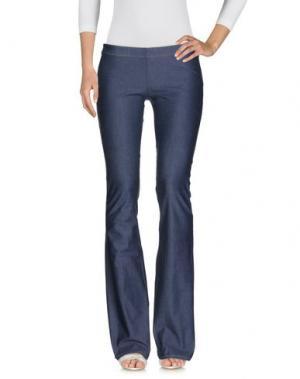 Джинсовые брюки FISICO. Цвет: синий