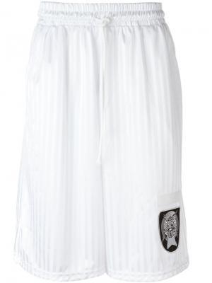 Полосатые спортивные шорты Liam Hodges. Цвет: белый