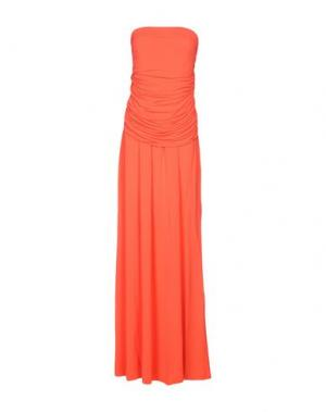 Платье длиной 3/4 FRANCESCA FERRANTE. Цвет: коралловый