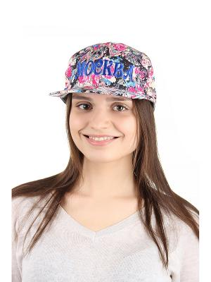 Бейсболка Migura. Цвет: розовый, черный, синий