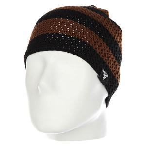 Шапка  Buffalo Striped Knits Beanie Brown/Black Fallen. Цвет: черный,коричневый
