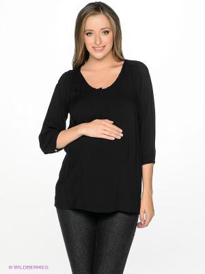 Блузка Mama Licious. Цвет: черный