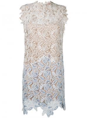 Платье с цветочной вышивкой Nº21. Цвет: телесный