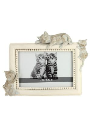 Фоторамка с котятами RICH LINE Home Decor. Цвет: бежевый