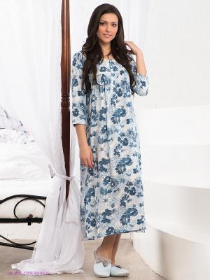 Сорочка CATHERINE'S. Цвет: голубой, белый