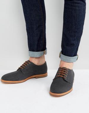 Hudson London Парусиновые туфли на шнурках. Цвет: темно-синий