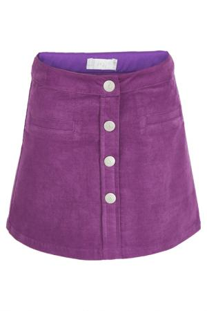 Юбка Button Blue. Цвет: фиолетовый